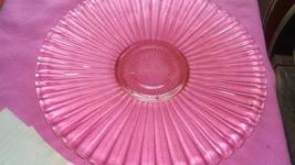 Pink Glass platter - $5.00