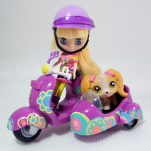 Littlest Pet Shop BLYTHE on Scooter B15 # 1864 with # 79 Maltese Puppy  - $298,29 MXN