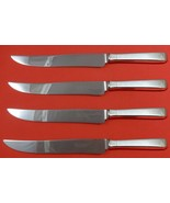 Craftsman by Towle Sterling Silver Steak Knife Set 4pc Large Texas Sized... - $247.10