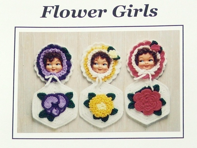 Crochet Pattern FLOWER GIRL POTHOLDERS! Easy/Fun JAO Pattern