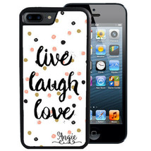 PERSONALIZED RUBBER CASE FOR iPHONE XR XS MAX X 8 7 6 PLUS LIVE LAUGH LO... - $13.98
