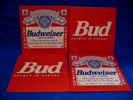 Budweiser Bud Beer Coaster Canada Souvenir set of 4 - $4.99