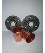 2 X Malleable iron metal Flange  and 2 X Copper 28mm Pipe Fitting *LOOK* - $13.04