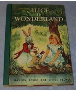 Alice in Wonderland Maxton Book for Little People - $19.95