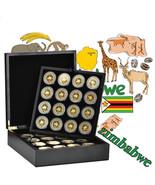 WR 2008 64PCS Zimbabwe 100 Trillion Dollars Coin Wooden Box Limited Edit... - $328.00