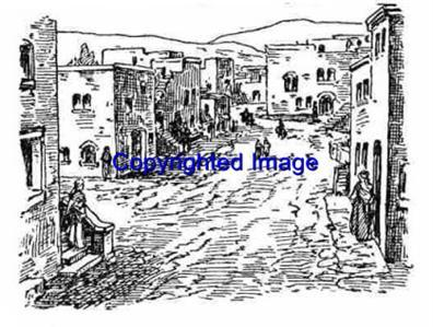 OLD WEST TOWN-NEW RELEASE! mounted rubber stamp