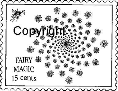 FAIRY MAGIC POSTOID new mounted rubber stamp