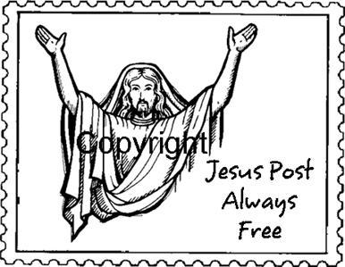 JESUS POSTOID new mounted rubber stamp