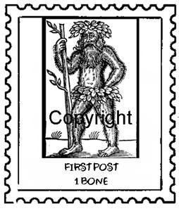 NEANDERTHAL POSTOID new mounted rubber stamp