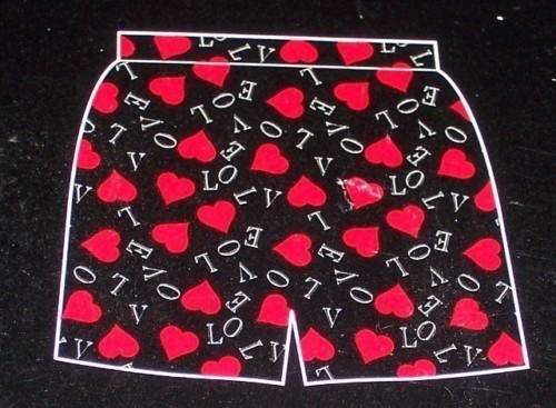 Primary image for Valentine Musical Card + Mens Heart Boxer Shorts XL Hot