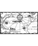 MAP ROUTE NEW RELEASE NEW mounted rubber stamp - $7.00