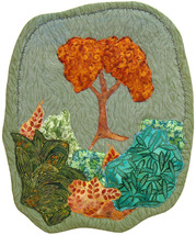 Orange Tree: Quilted Art Wall Hanging - $355.00