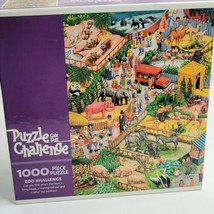 """Zoo Challenge Gail Pitt 1000 Piece Jigsaw Puzzle 20""""x27"""" by Ceaco 2005 S... - $12.87"""