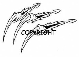 DRAGON CLAWS new mounted rubber stamp - $8.00