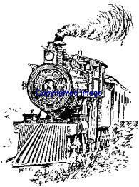 VINTAGE TRAIN NEW RELEASE mounted rubber stamp