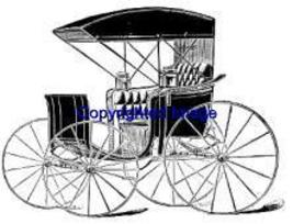 HORSEDRAWN CARRIAGE NEW RELEASE mounted rubber stamp - $8.10