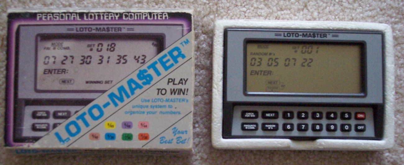 PERSONAL LOTTERY COMPUTER HAND-HELD LOTO-MASTER Model 6640