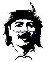 CARLOS SANTANA-NEW RELEASE! NEW mounted rubber stamp
