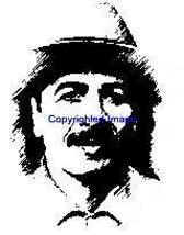 CARLOS SANTANA-NEW RELEASE! NEW mounted rubber stamp - $8.00