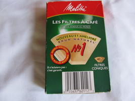 MELITTA COFFEE FILTER-CONE SHAPED-10 BOXES TOTAL - $17.00