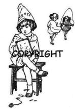 Girl Sitting In Dunce Corner New Mounted Rubber Stamp - $8.00