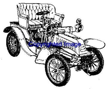1903 DION VINTAGE CAR NEW RELEASE mounted rubber stamp