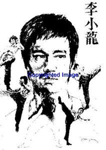 BRUCE LEE-NEW RELEASE! NEW wood mounted rubber stamp
