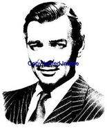 CLARK GABLE-NEW RELEASE! NEW WOOD mounted rubber stamp - $7.65