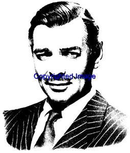 CLARK GABLE-NEW RELEASE! NEW WOOD mounted rubber stamp
