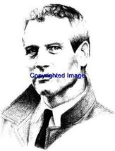 PAUL NEWMAN-NEW RELEASE! NEW WOOD mounted rubber stamp - $7.65