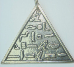 Vtg Pyramid Necklace Snake Cartouche Sterling S... - $66.95