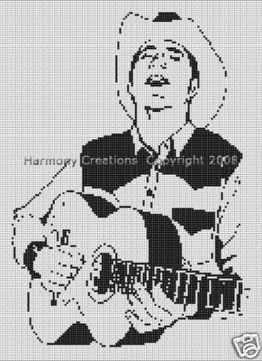 Bead Pattern Western Cowboy and Guitar Loom Stitch 012
