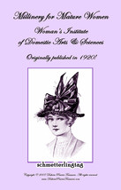 1916 Flapper Era Millinery Book Make Hats Making Red Hat Mature Pattern Milliner - $13.69
