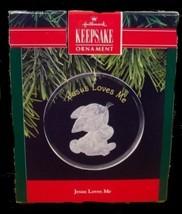 """Hallmark 1990 Rabbit """"Jesus Loves Me"""" in Box  - $5.95"""
