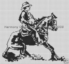 Bead Pattern Western Cowboy Haulting His Horse ... - $0.00