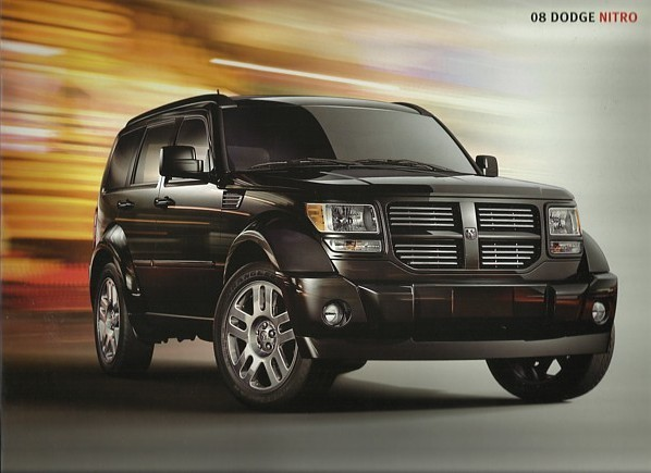 2008 Dodge NITRO sales brochure catalog 08 SXT SLT R/T