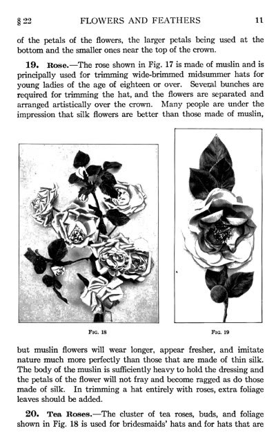 1916 MILLINERY Book Titanic WWI Hat Making Make Hats DIY Milliner Flower Feather