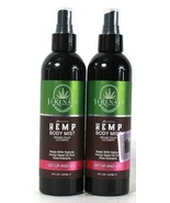 2 Bottles Serenata 8 Oz Premium Natural Hemp Seed Oil Get Up And Go Body... - $36.99