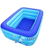 Inflatable Swimming Pool Bathtubs Hot Tubs with Electric Air Pump (130cm - $87.00