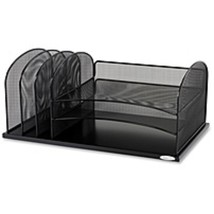 Safco Onyx 3 Tray/3 Upright Section Desk Organizer - 5 Compartment(s) - ... - $69.14