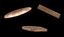 3 Vintage Goldtone Tie Clips - Swank - $4.95