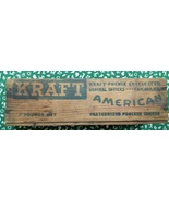 Kraft American Cheese 1930's 2 pound box - $21.00