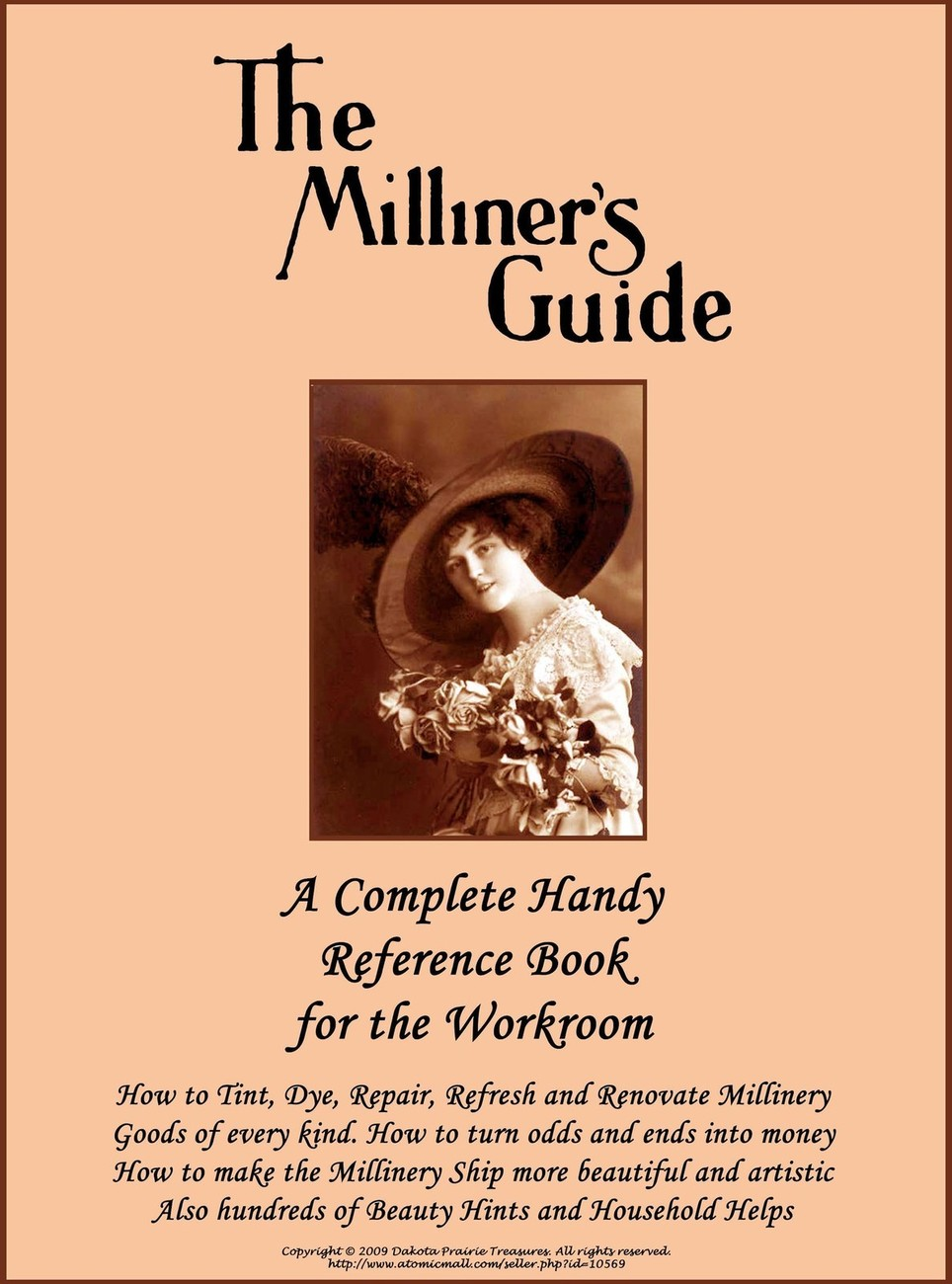 1917 Millinery Book Renovate Repair Hats DIY Titanic Milliner Guide Dye Feathers