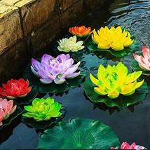 superdream Water Floating Foam Lotus Flower for Pond Decor, Set of 6 - $18.67