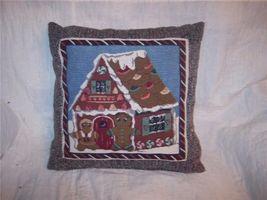 Ginberbread Men & House Christmas Print Pillow  16 x 16 - $15.42