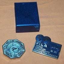 World Wrestling Championship Metal & Belt Buckle - $60.00