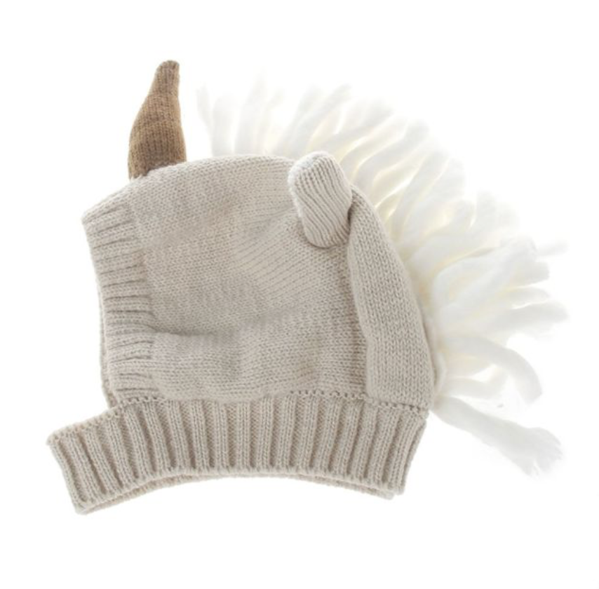 8080457ee4e59 Cajaca Kids Unicorn Horn Little Girl Knit Hat Halloween Costume Photo Prop  6m-2y