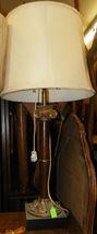 Vintage Marble Pillar Table Lamp - $190.68