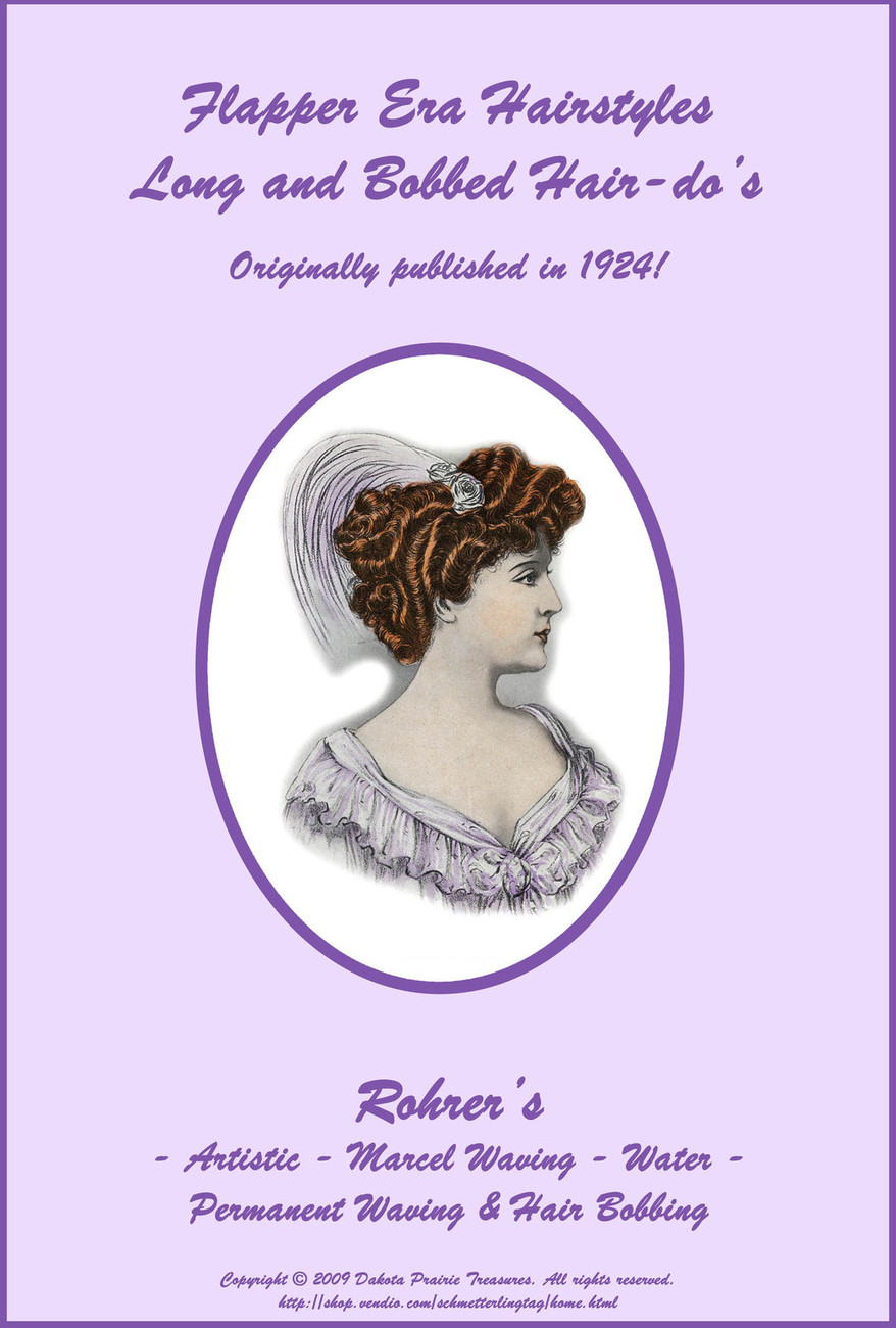 1924 Flapper Hairstyle Book LONG & Short Glam Hairstyles How to DIY Beautician