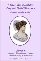 1924 Flapper Hairstyle Book LONG & Short Glam Hairstyles How to DIY Beautician - $13.69